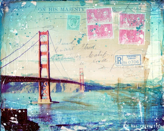 """Kingston"" paper print of San Francisco collage"
