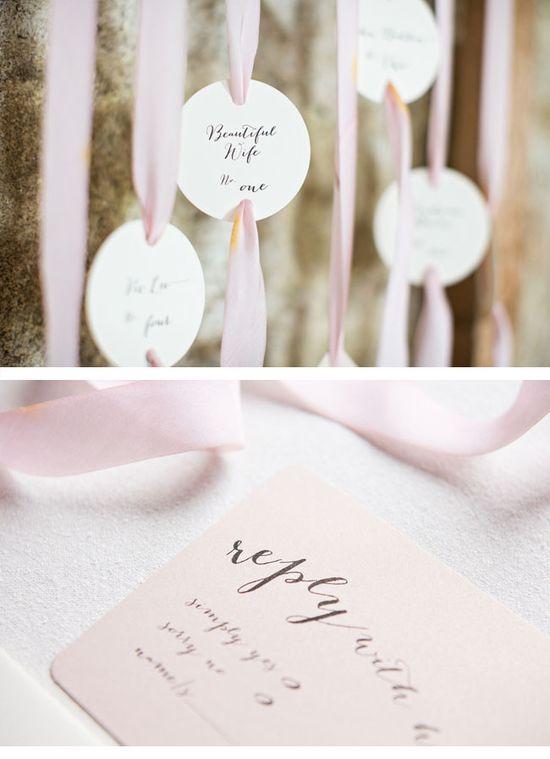 Ribbon wedding ideas