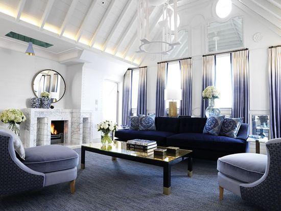 stunning ombre curtain at the Connaught Hotel in London