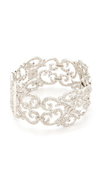 hinged filigree cuff | kenneth jay lane.