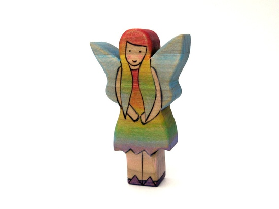 Woodland Fairy Toy - Wooden Toy - Handmade Toy. $12.00, via Etsy.
