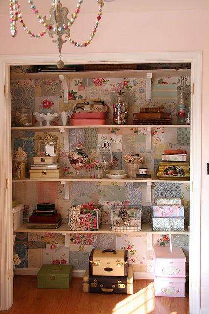shabby craft closet