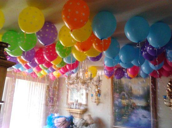 Balloons at a  Lalaloopsy Party #lalaloopsy #party