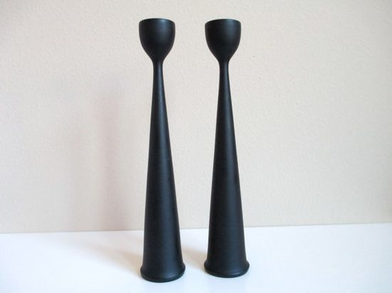 I love to mix old with new. These black Swedish candle-holders are simple and stylish. They'd look great in any room. #DeborahBeau