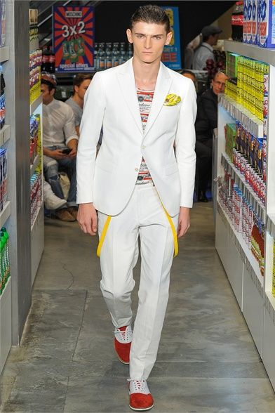 Moschino S/S 2013 #Fashion #Style #Men #Summer #Him