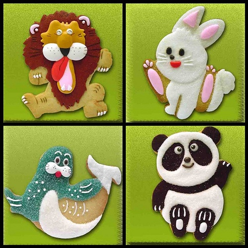 Animal cookie set 1 by BridalCookie, via Flickr