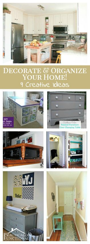 9 Creative Ideas To Decorate & Organize Your Home!