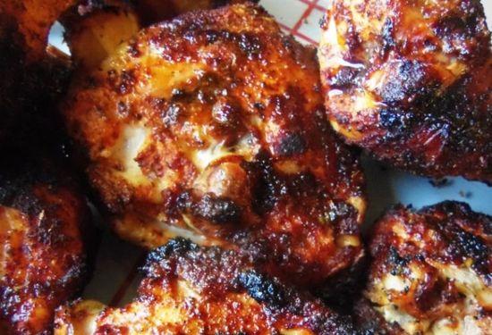 Dry Rub Chile Ancho Grilled Chicken HispanicKitchen.com