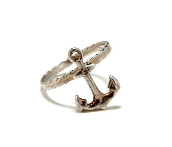 Adorable Silver #Anchor #Ring
