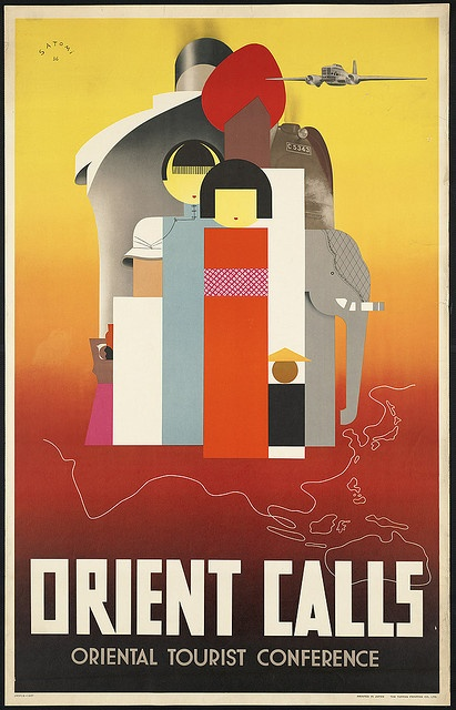 Vintage Travel Posters - Orient calls by Boston Public Library, via Flickr