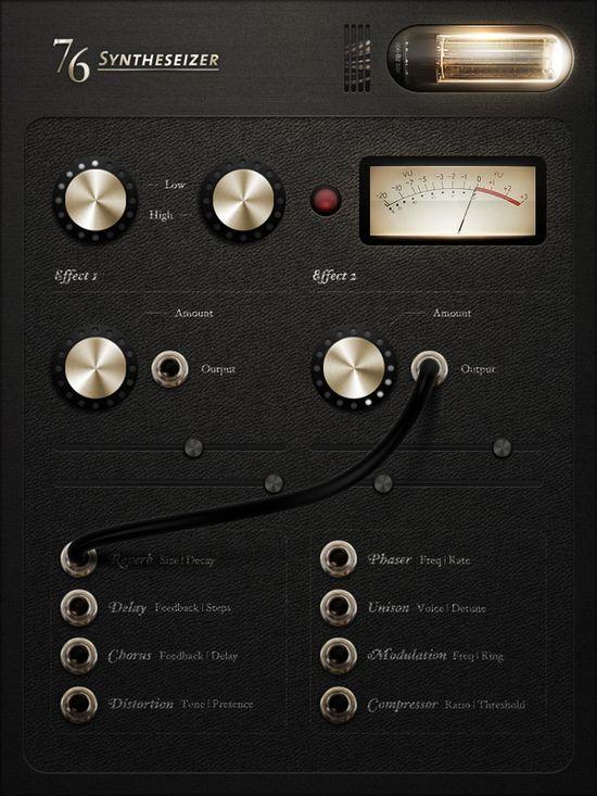 Beautiful iPad app interface