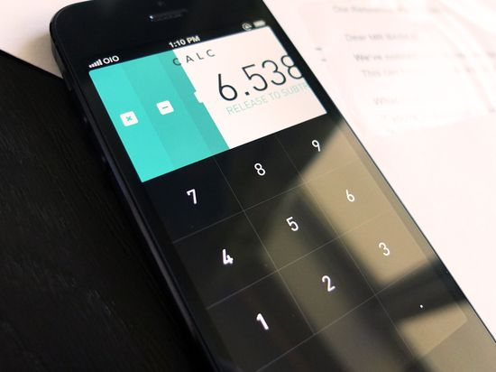 calc 20 Fantastic Examples of Flat UI Design In Apps