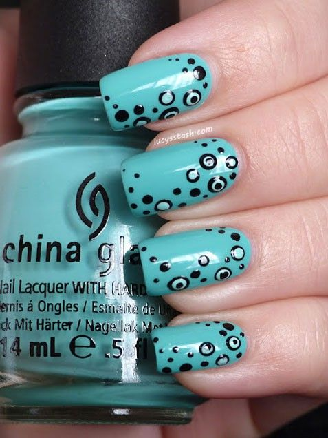 "DIY nails:  ""Dotticure"" #nails #diynails"