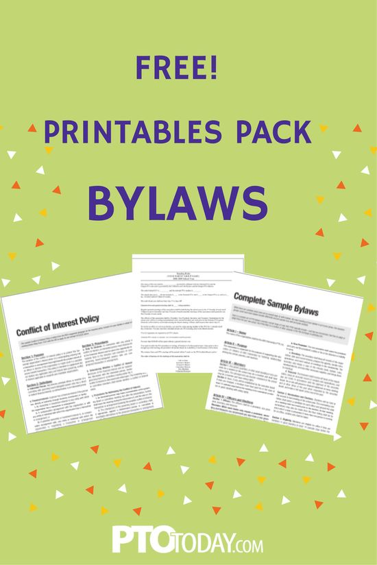 PTO Today (ptotoday) on Pinterest - free bylaws