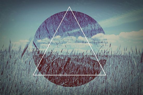 Triangle, nature, graphic design