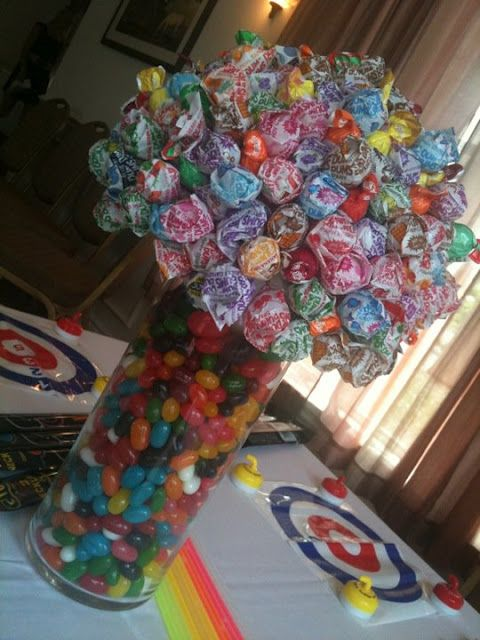 another candy centerpiece for kids table
