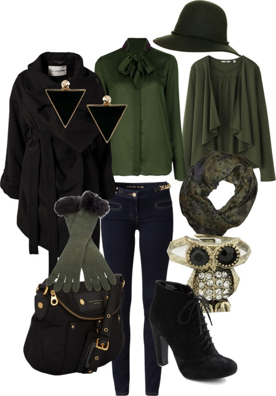 """Perfect work style - green"" by rossellalola on Polyvore"