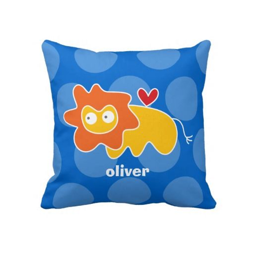 Cartoon Cute Lion Love Whimsical Kids Cushion Throw Pillows