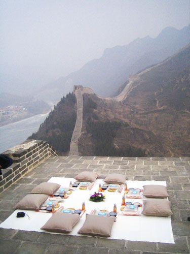 great wall picnic. amazing. (www.julianaloh.com)