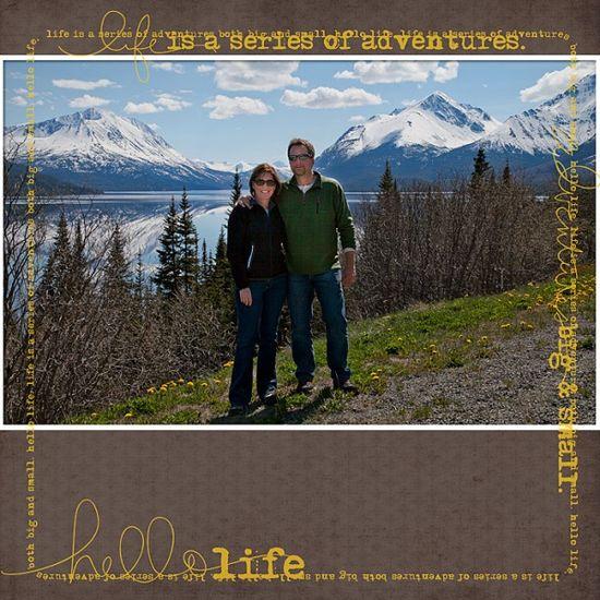 #Disney #Scrapbook Layout - @Nancy Walman Alaska Yukon Territory