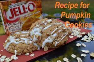 Delicious and EASY recipe for pumpkin cookies! You have to try this one!
