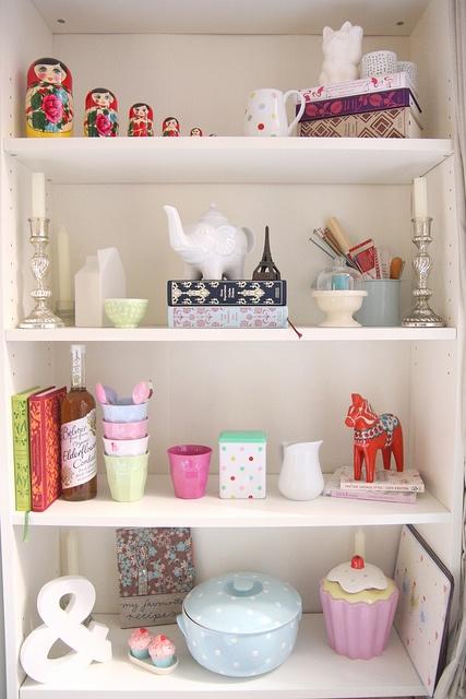 My Dining Room Shelves, via Flickr.