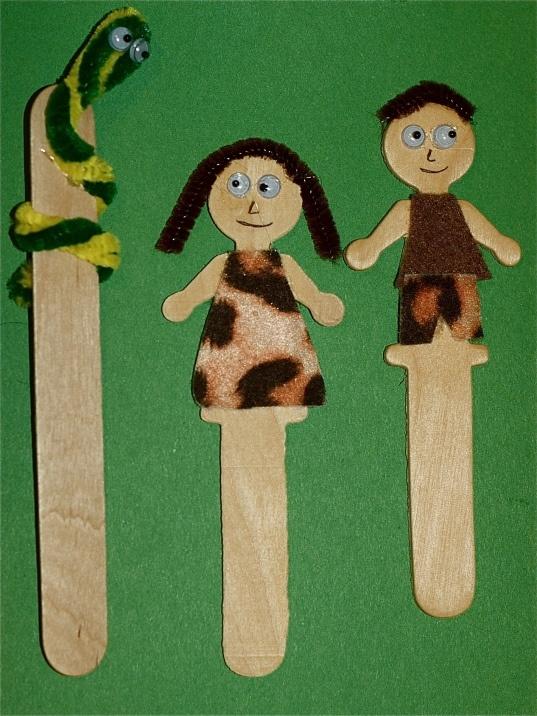 Adão e Eva Serpent picolé palito de sorvete