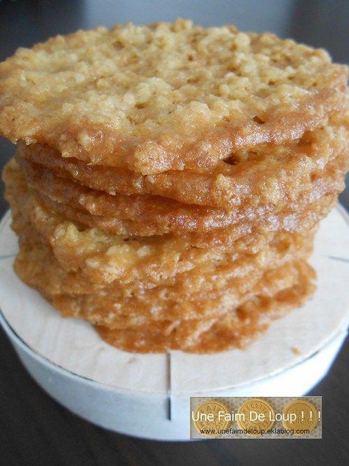 Biscuits dentelle aux flocons d'avoine - Une Faim De Loup ! ! !