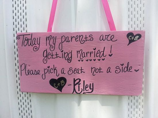 Pet Wedding Sign  Pick a Seat Not a Side  by ThePeculiarPelican, $14.95