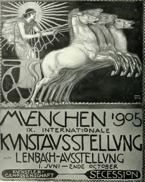 Graphic illustration work by Franz Stuck, produced in 1905