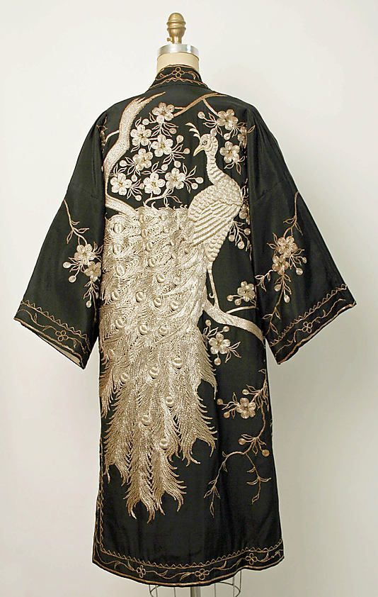 Chinese style evening coat, 1920s-1930s
