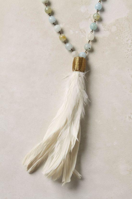 Feather Flight Necklace – Anthropologie #jewelry #jewellery #boho #bohemian #tas