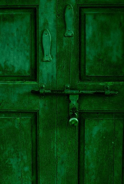 Green  #green #door #color