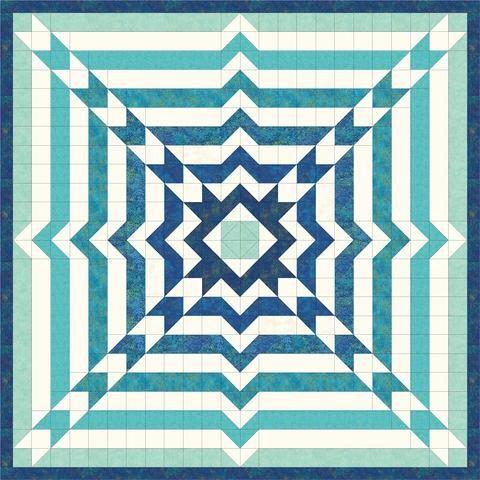 Time Warp - Blue Pre-Cut