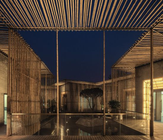 Bamboo Courtyard Teahouse / Harmony World Consulting & Design