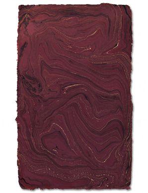 Handmade Marble Sheet, Burgundy