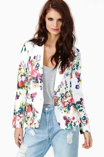 cute floral blazer from Nasty Gal