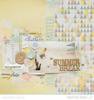 #papercraft #scrapbook #layout    summer break :: 'Atlantic' line by ania-maria at @Studio_Calico