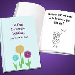 Personalized Teacher Appreciation Book