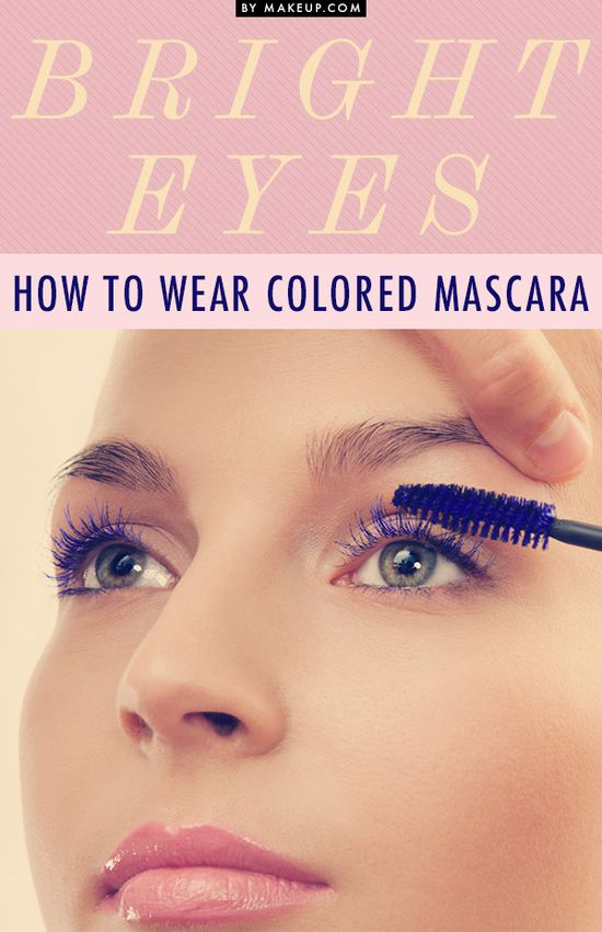 How to Wear Colored Mascara #makeup