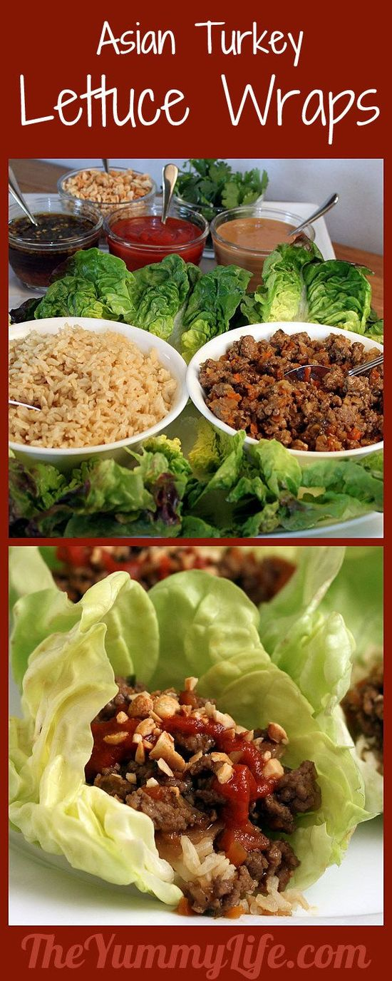 Asian Turkey Lettuce Wraps. A healthy meal, appetizer, or party buffet. Always a