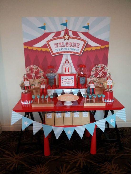 Circus Themed Christening Full of Cute Ideas via Kara's Party Ideas