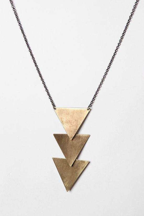 Triangle necklace.