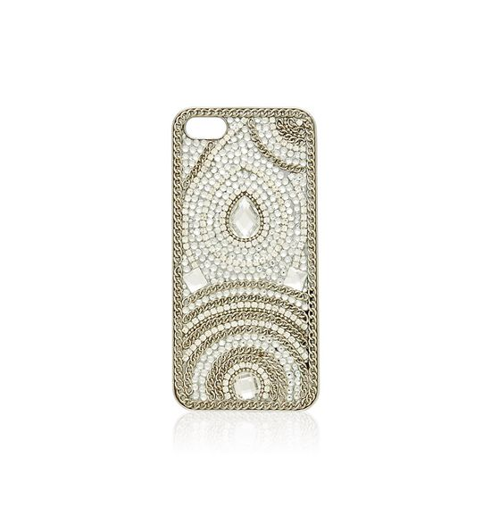Stone & Chain Phone Case (i5) - Forever New