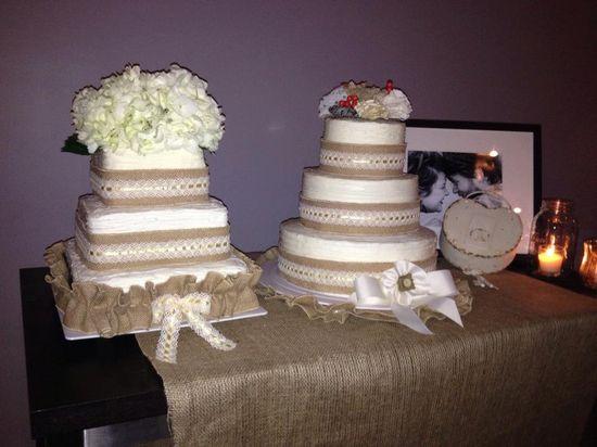 Shabby Chic wedding cakes