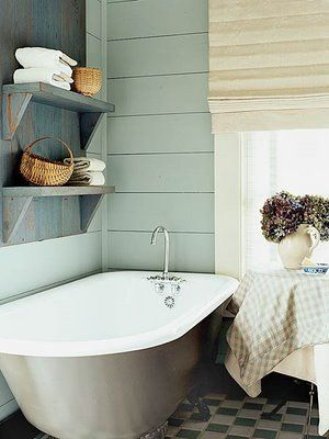 Beautiful Bathroom Decor #bathroom, #decoration, #inspriation, #blue, #rustic