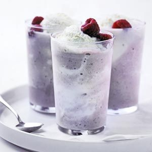 Raspberry Cheesecake Shake  A dessert in a glass? Why not? Try this sweet drink when entertaining.