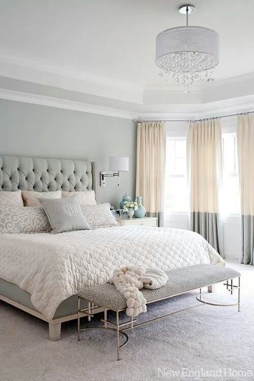 Calm & Light Colors for the Bedroom