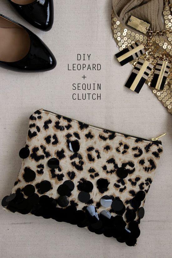 DIY Leopard + Sequin