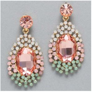Epic 50's style Cream, Pink and Green earrings